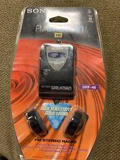 Sony FM Walkman SRF-46 FM Stereo Radio High Sensitivity - New NOS headphones