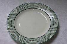 Cynthia Rowley Modern Lines Dots Dinner Plates - Green/Teal - Set of 4