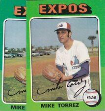 1975 TOPPS BASEBALL LOT (2) MIKE TORREZ #254 EXPOS EX+ *L2647