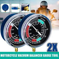 2x Vacuometro Sincronizzazione Bilanciatori Carburatori Manometro Gauge