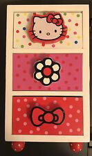 Hello Kitty Horizon Group (2011) 3 Wooden Drawers Jewelry Box