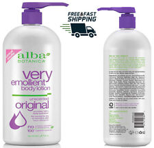 Alba Botanica Very Emollient Unscented Body Lotion 32 Ounce purple original new