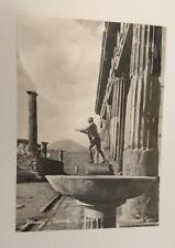 Vintage post card Postcard - Pompei Pompeii - Temple of Apollo, Italy 1950's