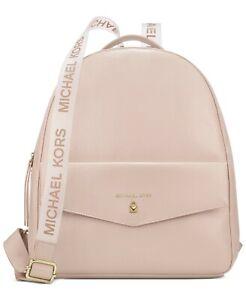 MICHAEL KORS BLUSH PINK/WHITE Designer Backpack NEW