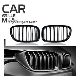 Fit BMW F01 F02 7-SERIES 09-2012 F03 GLoss Black Front Kidney Grille Grill Cover