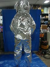 LAKELAND INTERCEPTOR INT640 LEVEL A HAZMAT SUIT ALUMINIZED HEAT SUIT LARGE