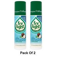 Pack of 2 Creamy Coconut Oil Frylight Frying / Roasting Cooking Spray 2 x 190 ml