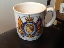 RARE  H.M. QUEEN ELIZABETH 11 Commemorative Mug 1953 CORONATION . H&K TUNSTALL
