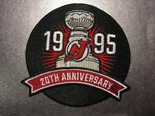New Jersey Devils NHL 20th Anniversary 1995 Stanley Cup Champions Logo Patch