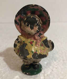 ANTIQUE Hubley Cast Iron Dolly Dimple Toy Figurine Paperweight
