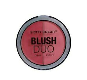 City Color Cosmetics Blush Duo Coral pink cream blush Fast free shipping W3231