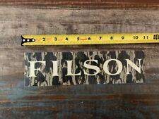 """Filson Logo Camo White Outdoor Hunting Clothing Sticker/Decal Approx 10.5"""""""