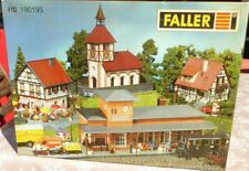 Faller 190195 H0 Bausatz Oberstein 5x Gebäudebausätze Wohnäuser Kirche Bahnhof