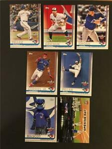 2019 Topps Opening Day Toronto Blue Jays Master Team Set 7 Cards With Inserts