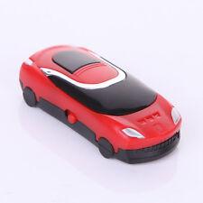 "Design mp3 Player ""minicar"" & bonus, SD-slot bis16gb, Cool rojo, recargable * nuevo *"