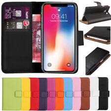 Flip Wallet Book PU Leather Cover Case for Apple iPhone 5 5S SE 6 6S 7 8 X Plus