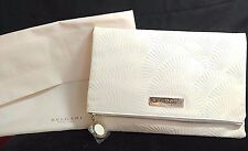 BVLGARI Rare LIMITED NEW PU Leather Cosmetics Makeup BAG and Pouch Beige