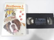 BEETHOVEN 3 DE EXCURSION CON LA FAMILIA CINTA TAPE VHS INFANTIL CASTELLANO