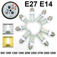 9W 10W 12W 15W 20W 25W 27W 30W 35W LED LAMPADA LAMPADINA FARETTO 220V E27 E14