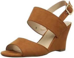 Athena Alexander Women's Slayte Wedge Sandal, Tan/Suede, Size 5.0
