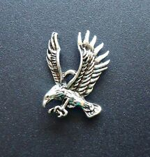 """Eagle in Flight Pendants, Antique Silver, 1"""" Tall x 3/4"""" Wide, Set of 10"""
