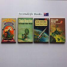 x4 VINTAGE Sci Fi Novels ~ Error Reaction Space Killer. Book Lot.