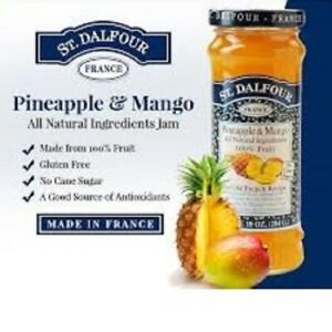 St. Dalfour Pineapple & Mango Jam 284 g  Made in France / No Sugar/ Gluten Free