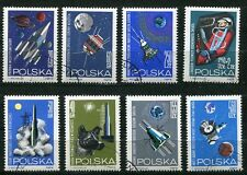 POLAND 1968 INTERPLANETARY SPACE CRAFT - DOG complete  SET OF 8 STAMPS!