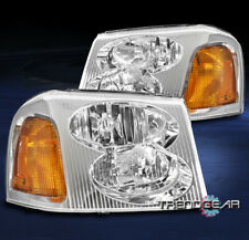 FOR 2002-2009 GMC ENVOY XL XUV REPLACEMENT HEADLIGHTS HEADLAMP LAMP CHROME LH+RH