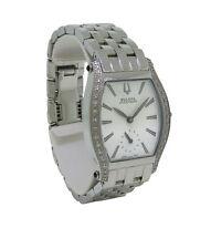 Bulova Accutron 63R005 Women's White Analog Tonneau Diamond Watch