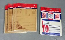 Lot Of 5 Pks Vtg Am Ambassador Mailing Labels & Seals Nouveau Air Mail