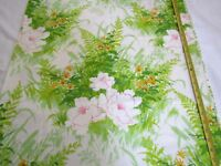 """Cohama Screen Print Fabric """"Country"""" Decor Canvas Green Ferns Roses 29L x 52W"""