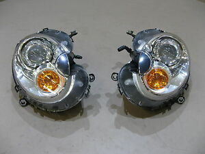 MINI Cooper R56 Frontscheinwerfer Scheinwerfer LHD Headlights Bi-Xenon