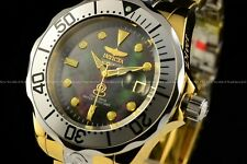 Invicta 300M Grand Diver NH35 Automatic 2-Tone Black Mother of Pearl Dial Watch