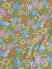 Vtg Pacific  Double Flat Sheet Extra Strength Muslin  Hip Mod 70s Vibe Flowers