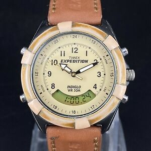 Vintage Timex Expedition Indiglo CR2016 Usa Made Men's Wrist Watch Working