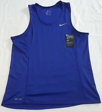NIKE MENS MILER RUNNING SINGLET TANK TOP 872014-455 SIZE LARGE