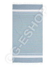 TELO MARE FOUTA COTONE 100x200 mod. MONIA riga blu azzurro bianco