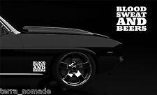 Blood Sweat And Beer Gas Fast N Loud Hot Rod VW Euro Monkey Van Sticker vinyl BS