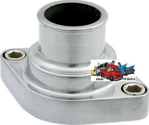 Chevy polished aluminum straight up thermostat housing