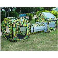 3 in 1 Camouflage Outdoor Children Tent Kids Play House Tunnel Tube Toy 7226 HC