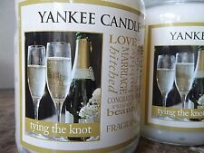 Yankee Candle Tying the Knot  22 oz. 1 SINGLE Free Ship Wedding Day Romantic