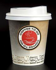 1000 Hartpapier Coffee to go Becher 0,2 l mit Deckel Kaffeebecher Pappbecher
