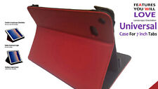 Universal Flip Foldable Stand Case for Amazon Kindle Five HD 7inch Red