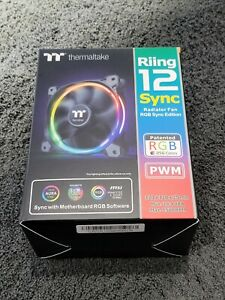 Thermaltake Riing 12 LED RGB 120mm Sync Edition Computer Case Fans - Triple Pack