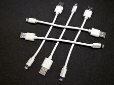 5x kurze Ladekabel 15cm Lightning 8-pin für iPhone 5 6 7 8 X iPod iPad weis