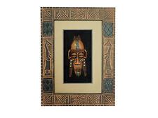 Wandbild Bild mit Holzmaske Südamerika Maske Deko Holzrahmen 30x40cm Art.07