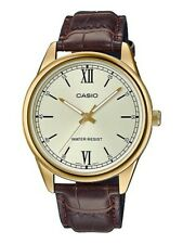 original casio leather watch for men mtp-v005gl-9budf