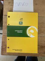 John Deere 348 Baler Owner Owner's Operator Manual User Guide OME76975 NOS