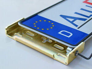 AluFixx Car Vario lackierfähig Nummernschildhalter Kennzeichenhalter